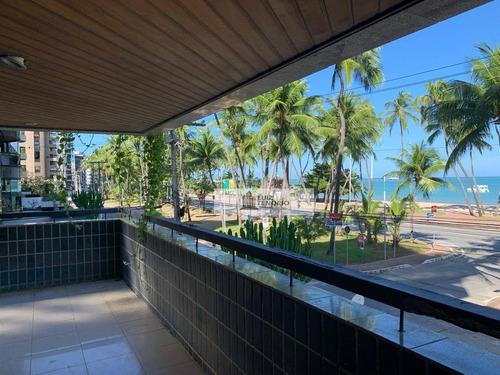 Imagem 1 de 14 de Apartamento À Venda - Ponta Verde - Beira Mar - Com 225 M² - Com 4 Quartos / 2 Suítes - Por R$ 1.150.000 - Ap0003
