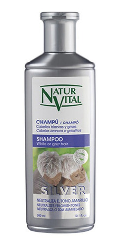 Imagen 1 de 2 de Shampoo Silver 300 Ml Natur Vital