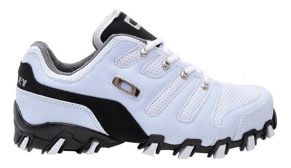 Tenis Oakley Teeth Modelo Novo Halftrack Preto Branco Cinza