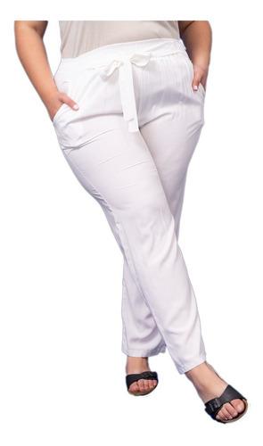 Imagen 1 de 9 de Pantalón De Fibrana Con Elástico Mujer Talles Grandes