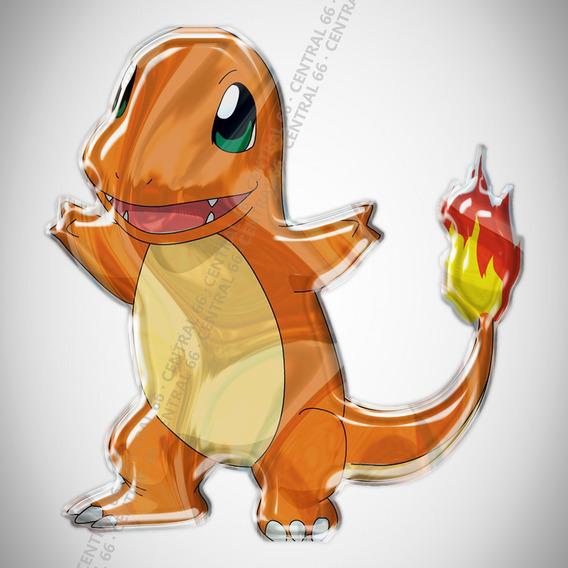Adesivo Desenho Pokemon Charmander Resinado