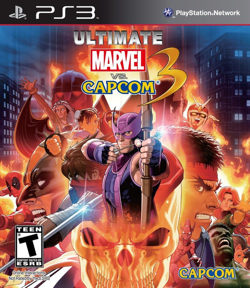 Jogo Ultimate Marvel Vs Capcom 3 Ps3 Original Mídia Física