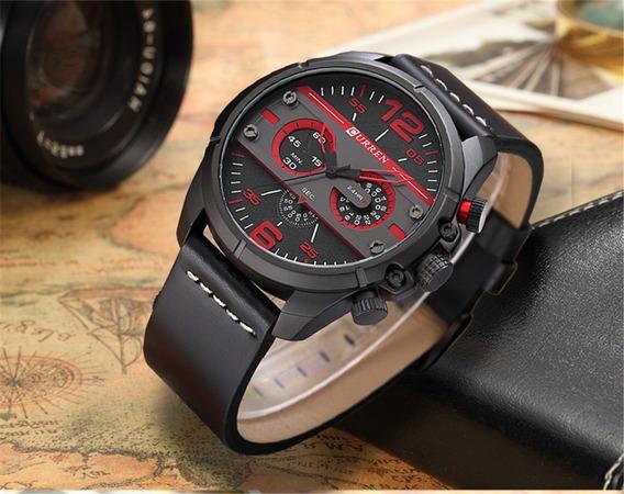 Reloj Hombre Curren 8259 Militar Casual Deportivo De Piel