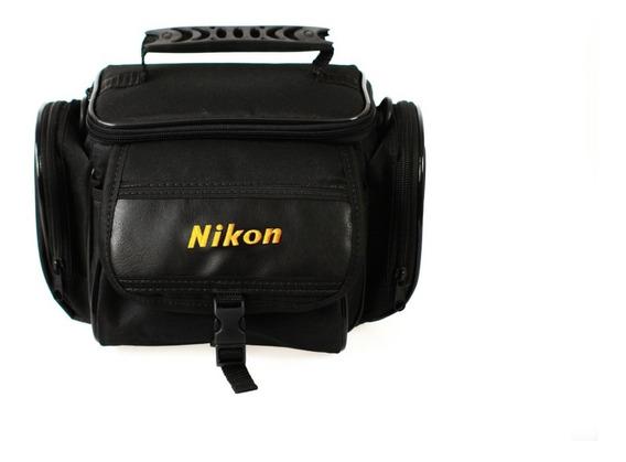 Bolsa Fotográfica Para Nikon P/ Câmera, Lente E Acessórios