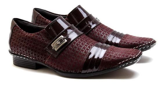 Sapato Social Masculino Calvest Bordo