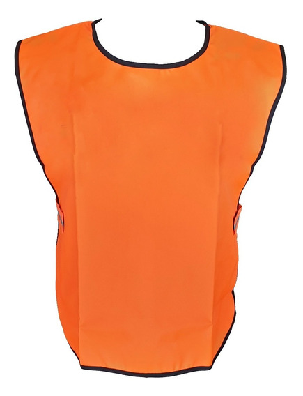 Chaleco Refractario Naranja Policía Reflectivo Espalda