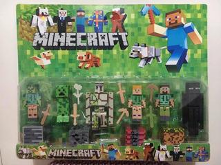 Muñecos De Minecraft Set X10 Figuras Creeper Enderman Steve