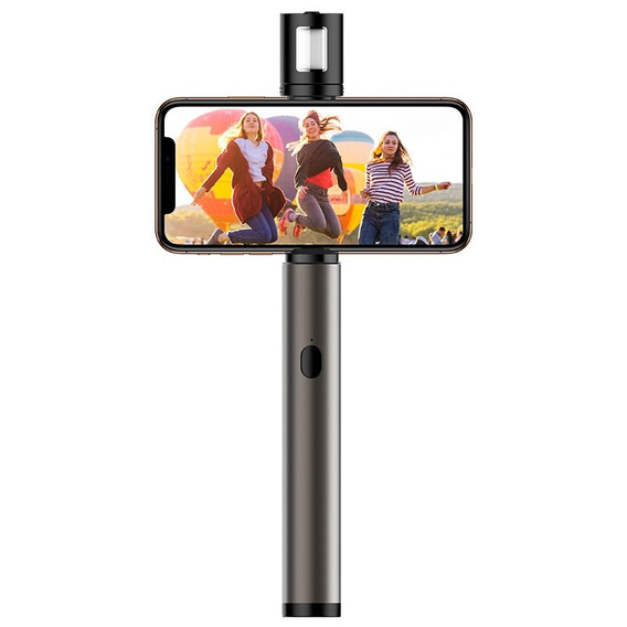 Bastão Pau De Selfie Rock Stick + ( Flash Led ) iPhone X/xs/xr/max/8/7/6s/se/5s