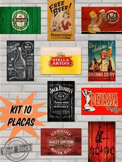 Promoção Kit 10 Placas - 20x30cm Mdf - Cozinha Cerveja