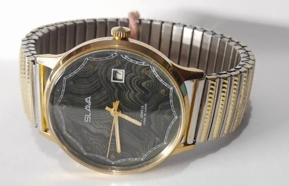 Relógio Slava Exportação Ussr, Raro. Masc., 980-1989. Ref373