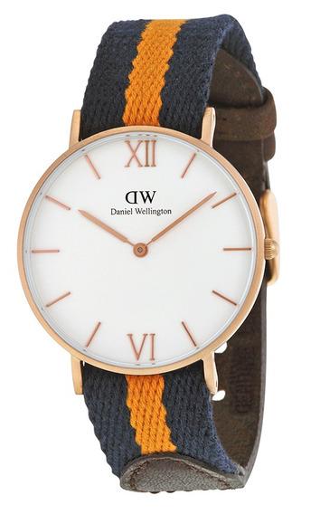 Reloj Daniel Wellington Selwyn Acero Nylon Unisex 0554dw