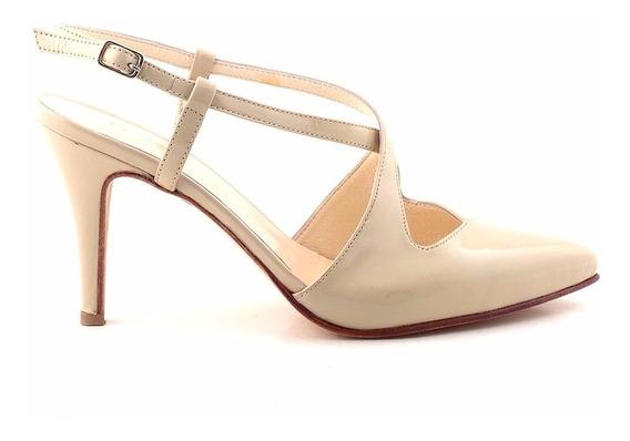 Zapato Cuero Mujer Briganti De Vestir Charol - Mccz03428 Ch