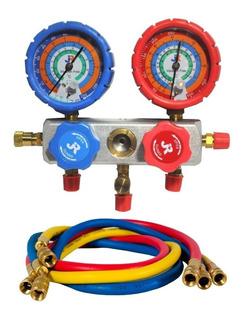 Manifold R134 R22 R12 R404 Cuerpo Aluminio