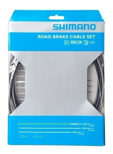 Imagen 1 de 1 de Kit Cables Y Fundas Shimano Para Frenos De Bicicleta Ruta
