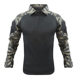 Camisa Combat Shirt Choque F1075 Raglan Airsoft Paintball