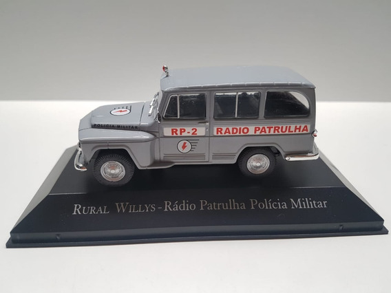 Miniatura Rural Willys Policia Militar Metal Scala 1:43