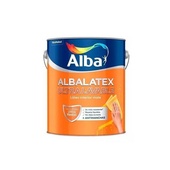 Pintura Albalatex Latex Ultralavable Premium Mate 20lts M M