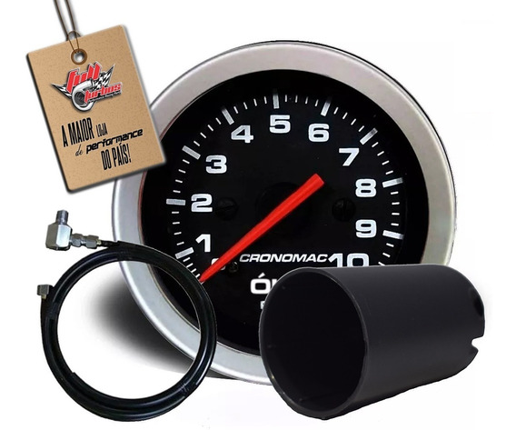 Manômetro Óleo 52mm Mecânico 10kg Sport + Copo E Kit Instal