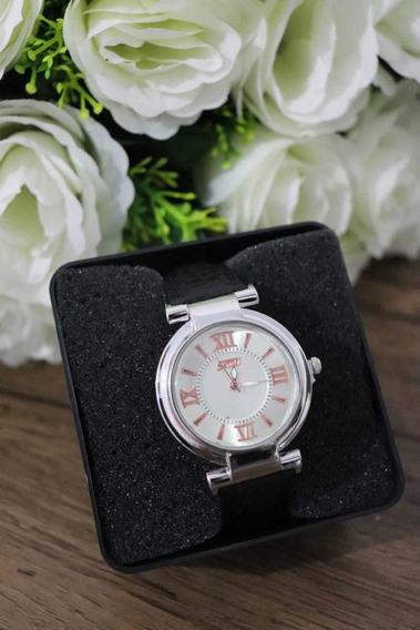 Relógio Feminino Couro Luxo
