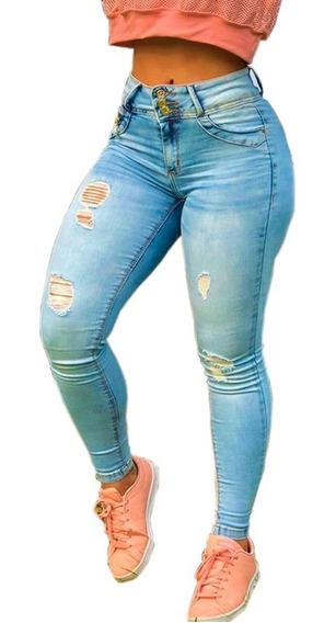 Calça Jeans Feminina Com Lycra Levanta Bumbum Maravilhosa