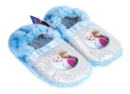 Pantufa Infantil Menina Frozen Brilho Ricsen