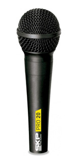 Microfone Vocal De Mão Dinâmico Profissional C/fio Skp Pro20