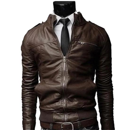 Jaqueta Masculina Couro Ecológico Melhores Marcas Ref 160