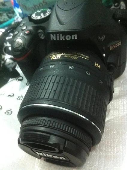 Nikon D5200, Lente 18 55, Com 9 Mil Clicks, R$1500