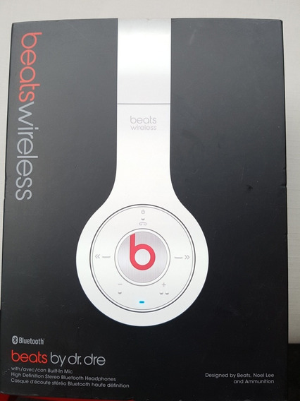 Fone Beats Wireless By Dr Dre, Branco, Bluetooth, Barato