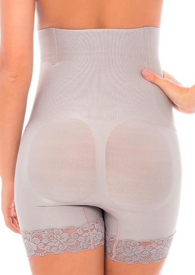Shorts Cintura Alta Boxer Lace Plie Shades Compressão 60082