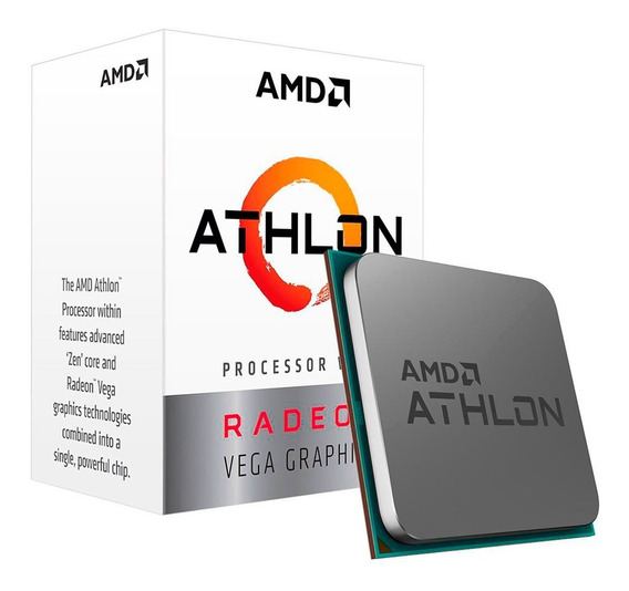 Processador Amd Athlon 3000g 3.5ghz Dual Core Am4 5mb Vega 3