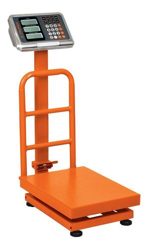 Imagen 1 de 2 de Báscula digital Truper BAS-PLA 100kg con mástil 127V naranja 40cm x 30cm