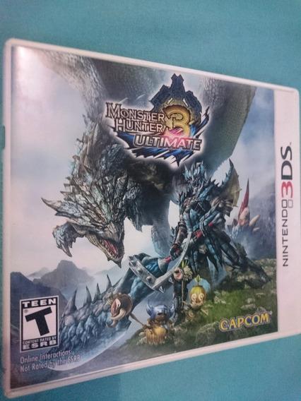 Monster Hunter 3 Ultimate 3ds - 100% Ok, Americano, Frete Cr 15$