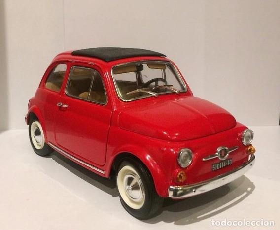 Fiat 500 1965 Burago 1/16 Made In Italy. Belleza Impecable!