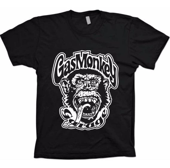 Camiseta Gas Monkey Garage Discovery Dallas - 100% Algodão!