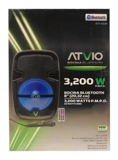 Bocina Bluetooth Atvio 8 Pulgadas Modelo Atv1008