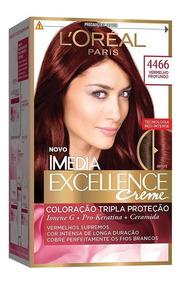 Coloração Imédia Excellence 4466 Vermelho Profundo
