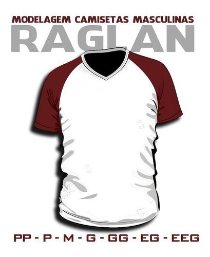 Moldes Camisetas Raglan Gola V E Careca Manga Curta E Longa
