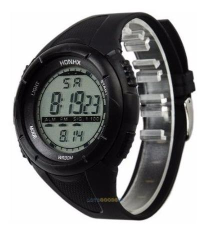 Reloj Digital Honhx Negro Deportivo
