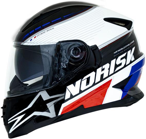 Capacete Norisk Ff302 Grand Prix France Viseira Solar França
