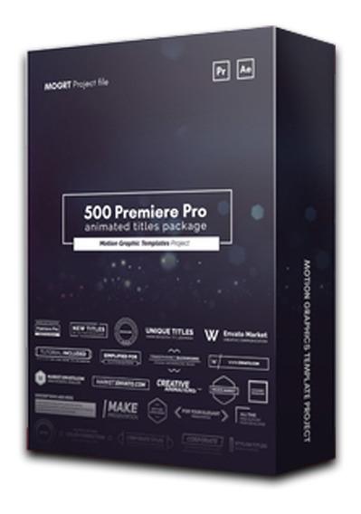500 Títulos Textos Animados Para Adobe Premiere
