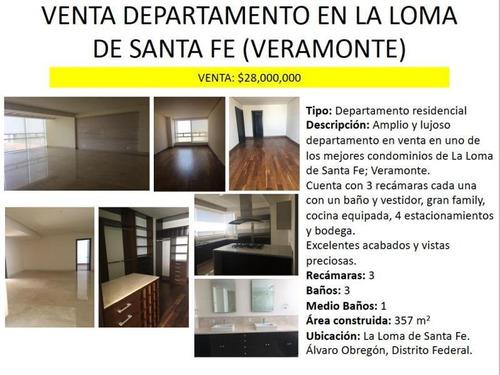 Venta Departamento 3 Lomas De Santa Fe