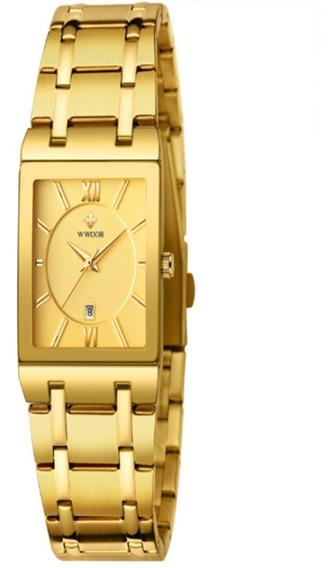 Wwoor Lindo Relógio Masculino Moda 2020 Dourado