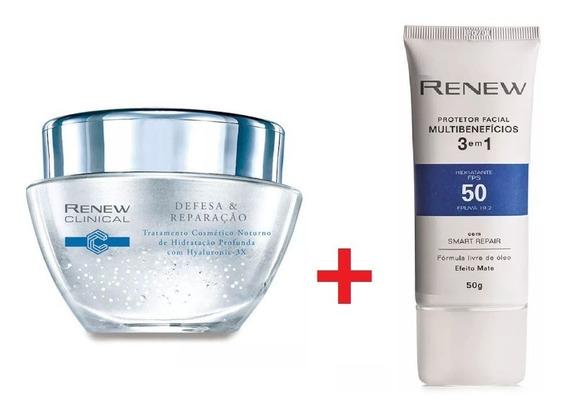 Kit Renew Hydra+protetor Facial Multibenefícios 3em1 Fps 50