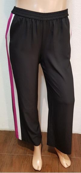 Pantalón Mujer Con Rayas Laterales Importado Talle Xl