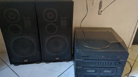 Rádio Toca Disco E Fitas Micro System 3x1 Cce Ss-5880