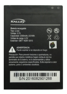 Bateria Kalley Li-ion 3.7v 100% Original.