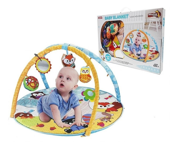 Ginasio Infantil Playground Bebe Com Espelho Mordedor Musica
