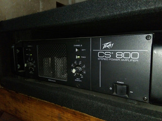 Potencia Peavey Cs 800 Made In Usa Rack Incluido, Única.
