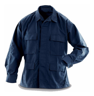 Chaquetilla Tactica Corte Bdu Ripstop Azul Policial